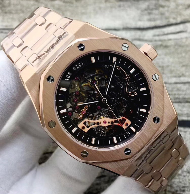 Luxury Brand New Automatic Mechanical Men Watch Transparent Glass Back Skeleton Rose Gold Black Silver Tourbillion Watches AAA+Luxury Brand New Automatic Mechanical Men Watch Transparent Glass Back Skeleton Rose Gold Black Silver Tourbillion Watches AAA+