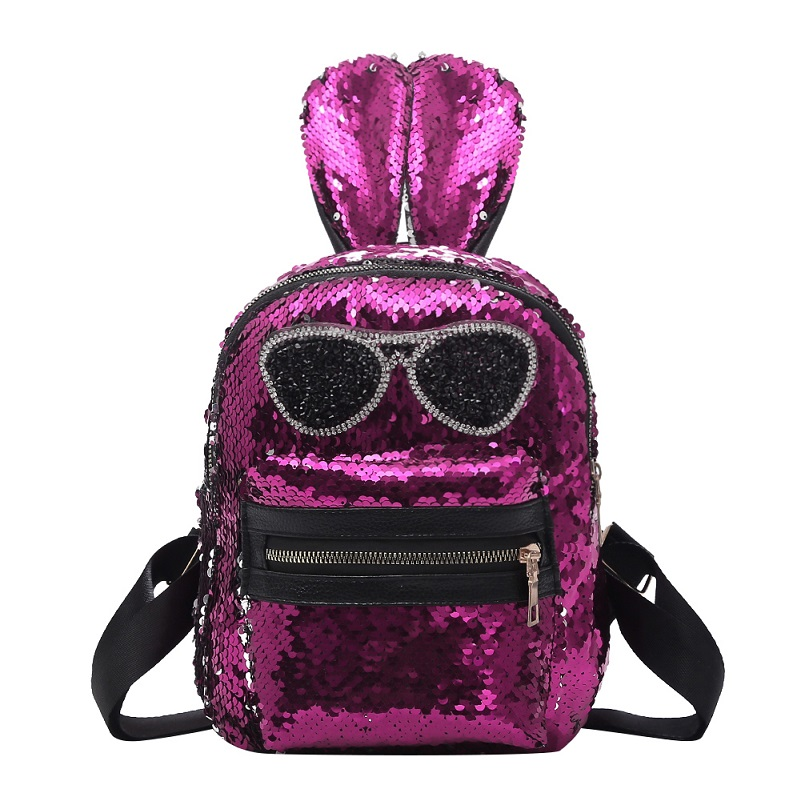c3f53a61911f Dropwow Shining Women Sequins Backpacks Teenage Girls Travel Large ...
