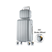 High high quality korea trend 14 26inches abs+laptop hardside journey baggage luggage on common wheels for lady and boy,trolley baggage