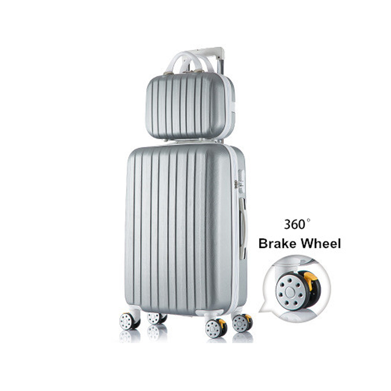 цены High quality korea fashion 14 26inches abs+pc hardside travel luggage bags on universal wheels for girl and boy,trolley luggage