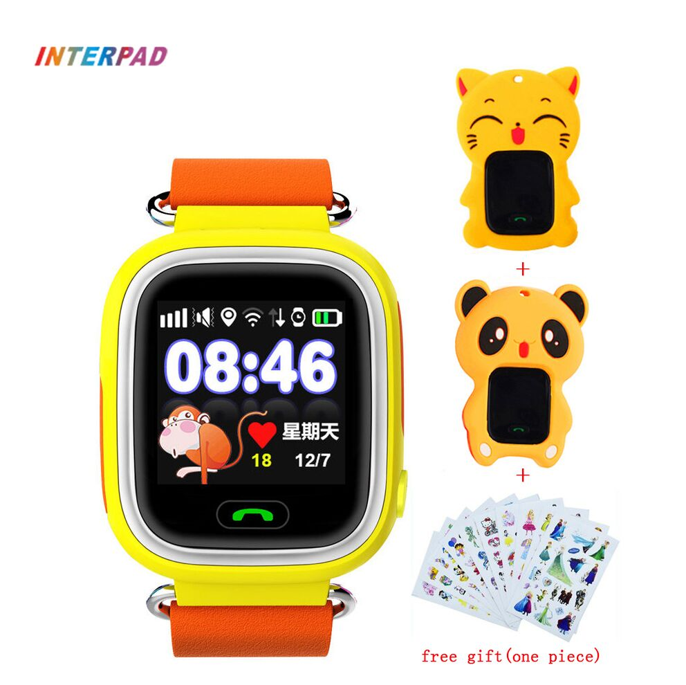 2018 Interpad SOS Child Smart Watch Kids GPS Five Precise Positioning Smartwatch SIM Card Locator Tracker Anti-lost For Children