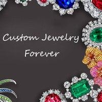 Custom Order of making the 4 ct vvs1 D color Emerald cut moissanite ring 18k white gold.