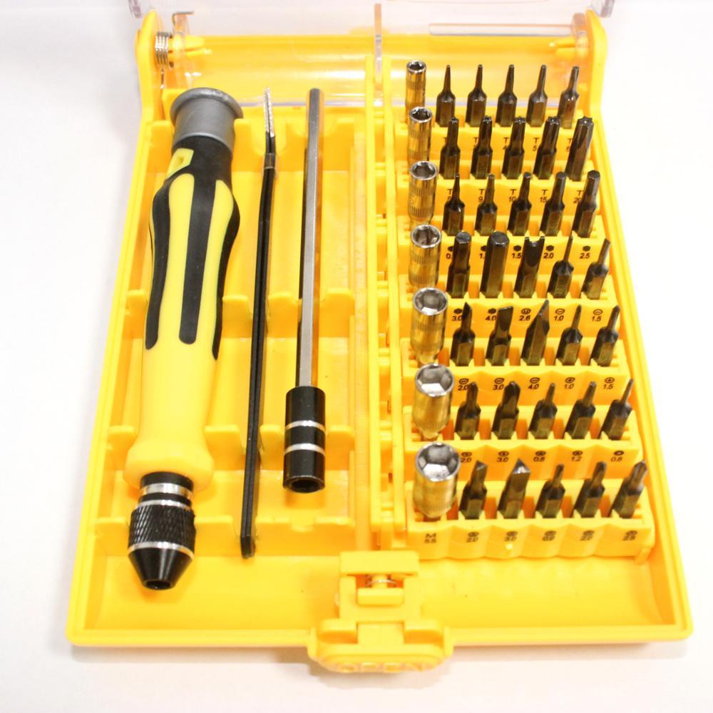 Magnetic Screwdriver Set 45 In 1 Set Precision Screw Driver Tools With Tweezer