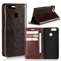 Phone Cases For Huawei Nova 2 Back Cover Wallet Flip Genuine Leather Case For Huawei Nova