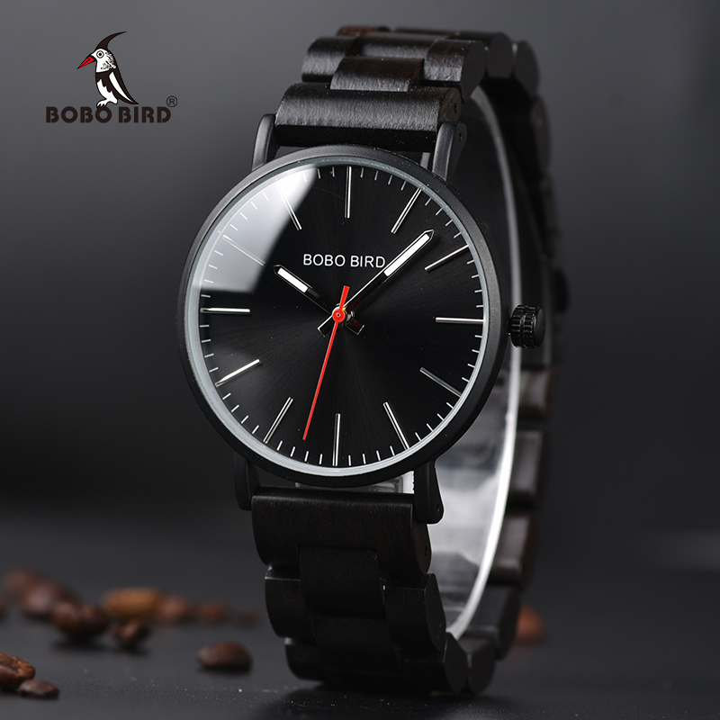 BOBO BIRD Watch Men Relogio Masculino Wood Band Quartz Watches Relojes Para Hombre ideal Men's Gifts Items V-Q30 все цены