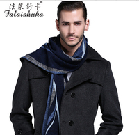 2016 new men's silk scarf for winter warm long thick silk scarfs for man fashion brand businessman silk scarfs plaid