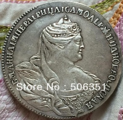 wholesale 1740 russian coins 50 Kopeks copy 100% coper manufacturing old coins
