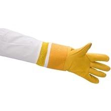 1 пара желтый Пчеловодство защитные перчатки овчины рукава анти пчела для пчеловодов мягкие профессиональные для