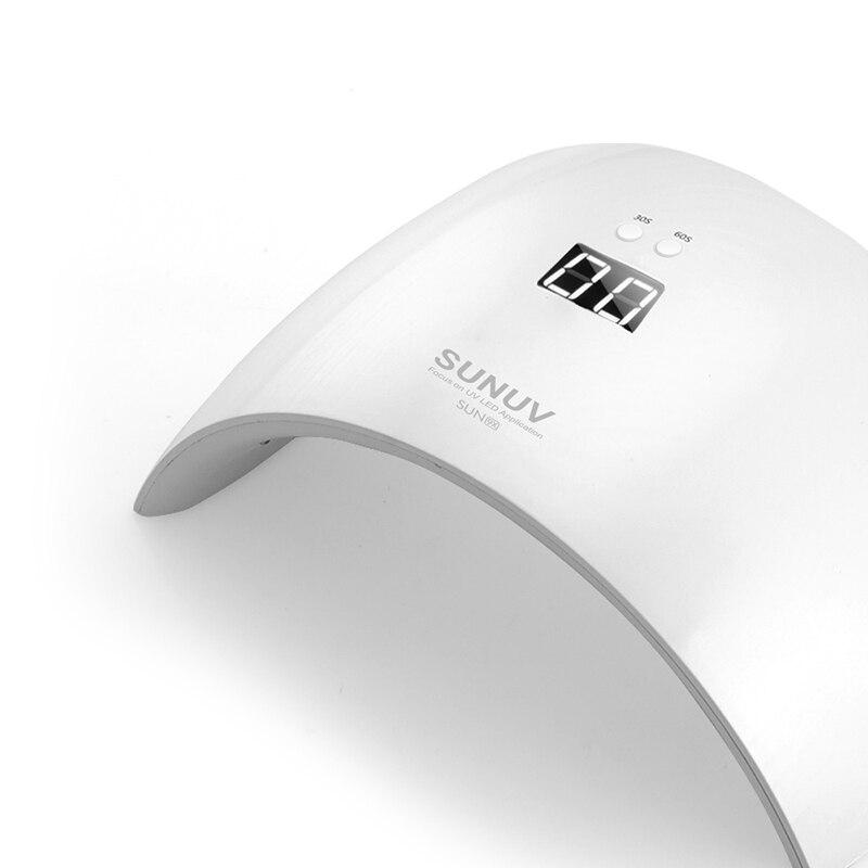 SUN9x 24 w nail lamp EU plug resistance to fall off the UV lamp UV gel gel nail dryer timer infrared sensors