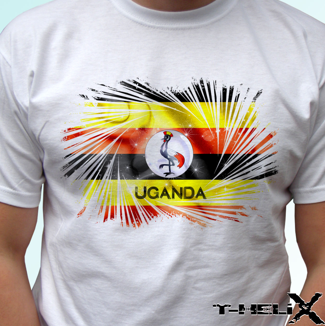 Uganda flag white t shirt top Africa country design mens womens kids amp baby Funny Tops Tee New Unisex Funny free shipping in T Shirts from Men 39 s Clothing