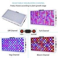 12 bands Full Spectrum 1000 Watt LED Grow Light Optical Lens IR UV LED Plant Light for Greenhouse Indoor Veg Bloom Crops