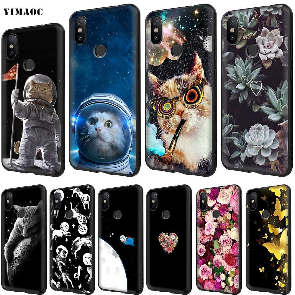 YIMAOC Space Dogs Cat Turtles Soft TPU Case for Xiaomi Redmi mi Note MAX 3 6 6A 7 mi6 mi8 9 se a1 a2 Pro Lite go pocophone f1