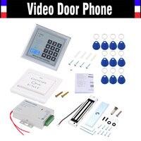 Controller controllo porta di accesso kit sistema di sicurezza con serratura magnetica della porta di alimentazione entry tastiera 10 portachiavi pulsante di uscita