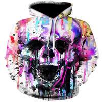 Headr Human Skull 3D Pattern Print Interesting Hip Hop Costumes New Jacket Jacket Spring And Autumn
