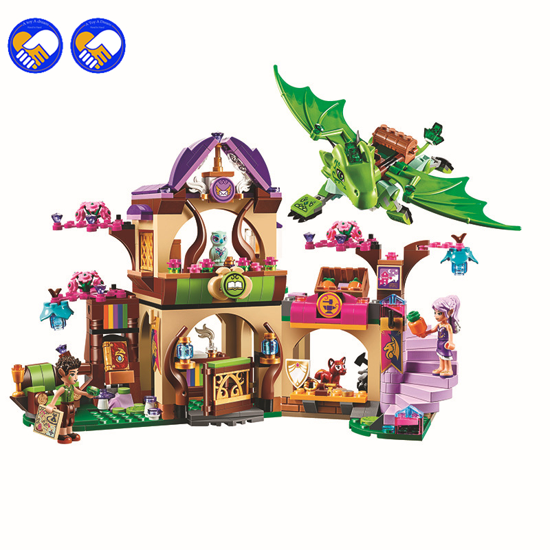 A toy A dream Elves Secret Place parenting activity education model building blocks of the new year girls children's toys Lepin вcтраиваемый светильник elektrostandard 4690389063312