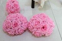 15 cm/6 pouce Décorations De Mariage Soie Embrassant Pomander rose Fleurs Boules De Mariage bouquet Livraison Gratuite