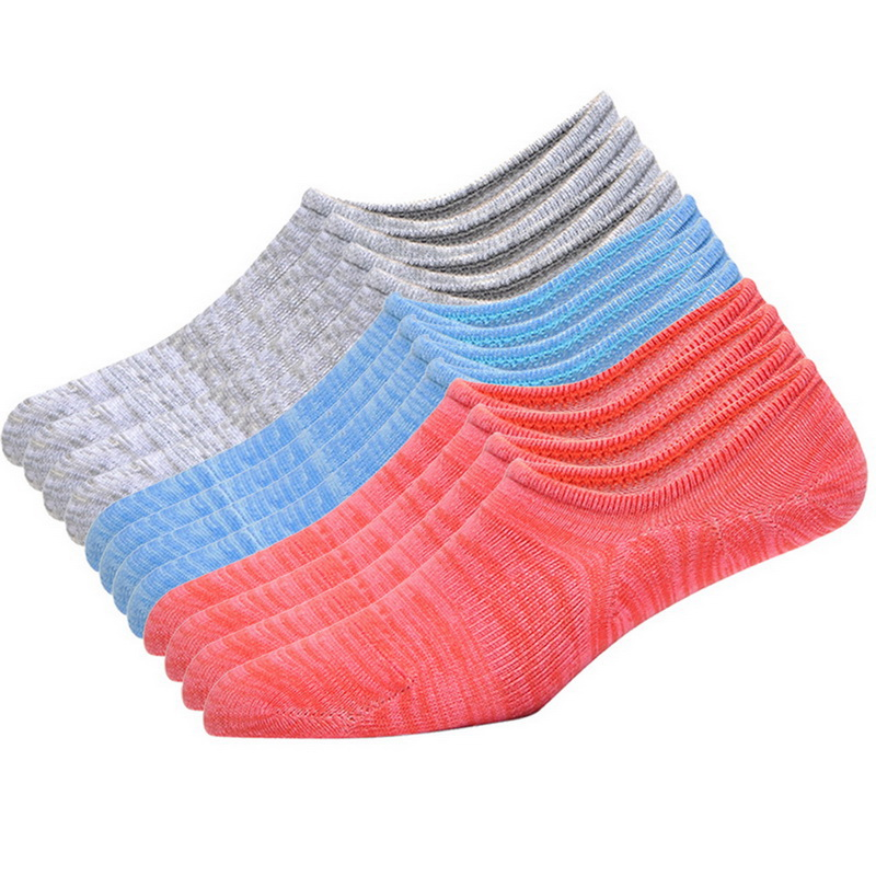 Nibesser 1/6 /10 Pairs Solid Cotton Loafer Boat Non-slip Socks Women Soft Invisible Socks Low Cut Casual Invisible No Show Socks Underwear & Sleepwears