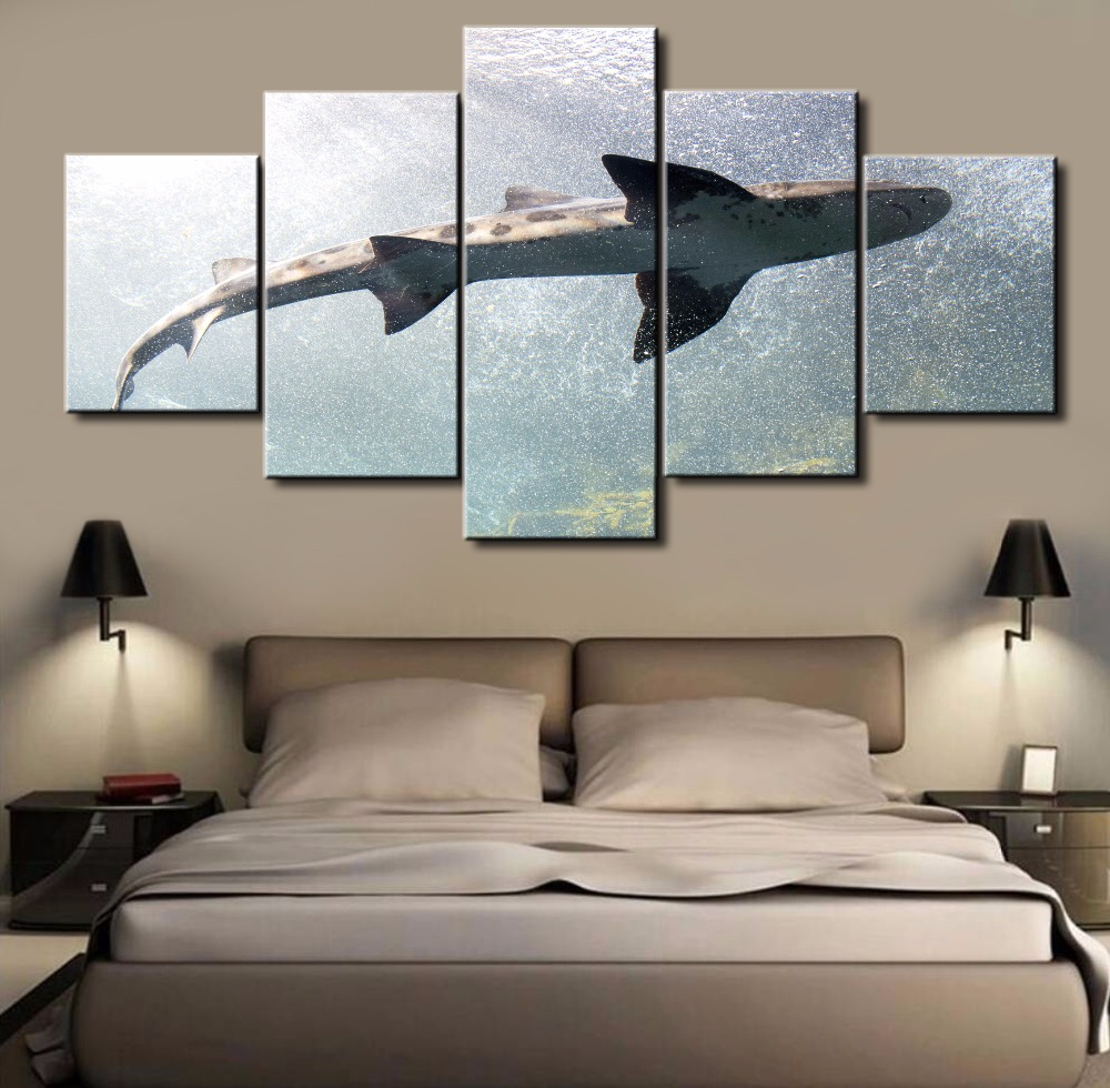 5 Pieces Canvas Painting Office Home Decoration For Living Room Modern Wall Art HD Print Painting On Canvas framed