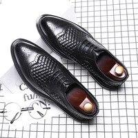 Роскошные Брендовые мужские туфли-оксфорды с перфорацией типа «броги»; модельные туфли с острым носком; мужские свадебные туфли из итальян...
