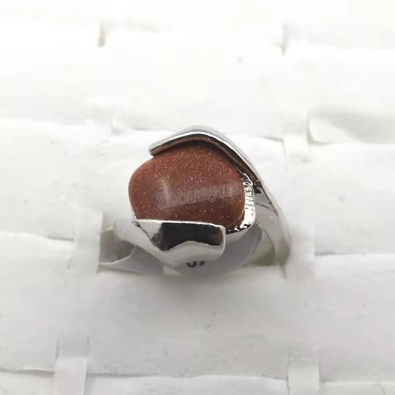 50 stücke mischen stil natur stein legierung ringe modeschmuck