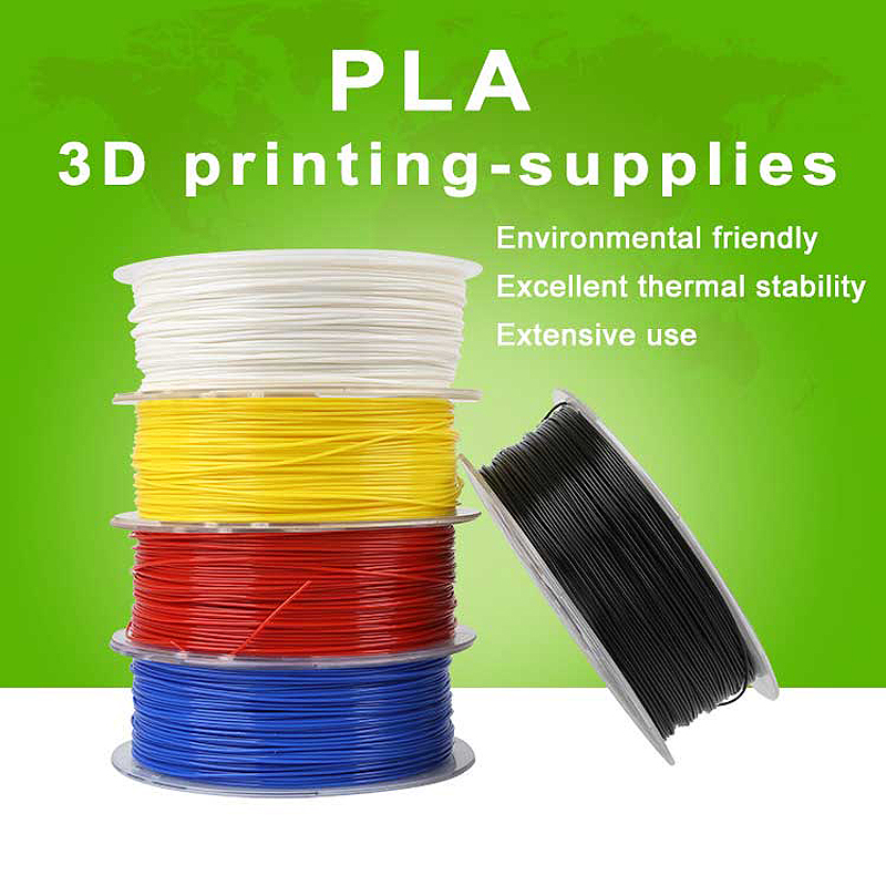 White/Black/Yellow/Blue/Red 1KG 1.75mm PLA Filament 3D Printing Materials For 3D Printer pla 1 75mm filament 1kg printing materials colorful for 3d printer extruder pen rainbow plastic accessories black white red gray