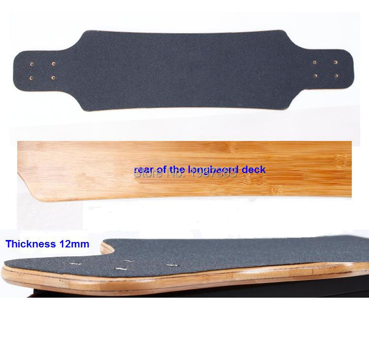38 inch Skateboard Longbaord deck 3 layer fiber glass +2 layer bamboo +stick abrasive paper-in Skate Board from Sports & Entertainment    2