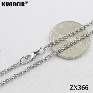 """Image 3 - 200 pz 14 """" 38"""" collana in acciaio inox 2.5mm rotonda rolo link catene parti di gioielli delle donne di modo ZX366"""