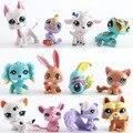 12 unids/set Juguetes Littlest Pet Shop Animales LPS Figuras Perros de Patrulla de la Figura de Acción de 4-5 CM Niños de Los Niños de Cumpleaños Los Niños Juguetes de regalo