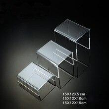 Acrylique U vitrine marchandise présentoir Table top bijoux support bureau étagère bouteille tasse thé ensemble exposition accessoires