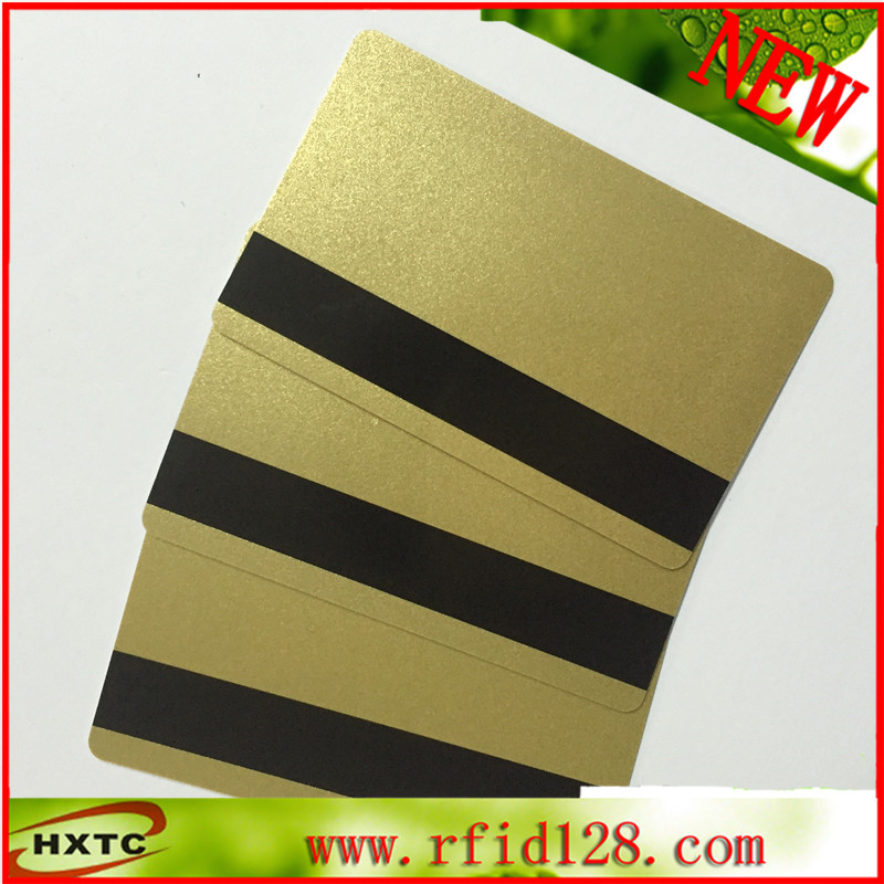 200PCS/Lot Magnetic Stripe Gold card PVC blank Card (Hi-Co 2750, 3000 ,4000 OE) for Magnetic Stripe reader wrater 20pcs lot contact sle4428 chip gold card with magnetic stripe pvc blank smart card purchase card 1k memory free shipping