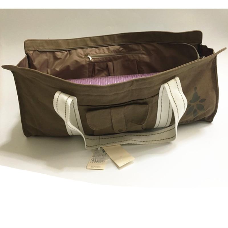 Waterproof Canvas Yoga Bag 100% Cotton Pria Dan wanita Luar Kebugaran - Kebugaran dan binaraga - Foto 4