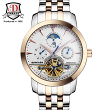BINKADA Big Dial Mens Watches Top Brand Luxury Automatic Self-wind Relogios Masculino Business Watch Mechanical Tourbillon Clock