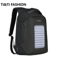 Luxury Travel Men Backpacks Solar Charge External USB 16Inch Laptop Backpack Anti Theft Waterproof Bag For