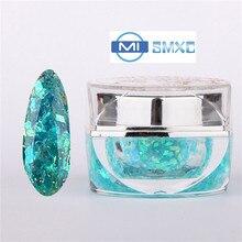 MISMXC 20ML 0.8OZ High Quality Soak Off UV Gel Shiny Colors Glitter Powder Nail Art Builder Gel