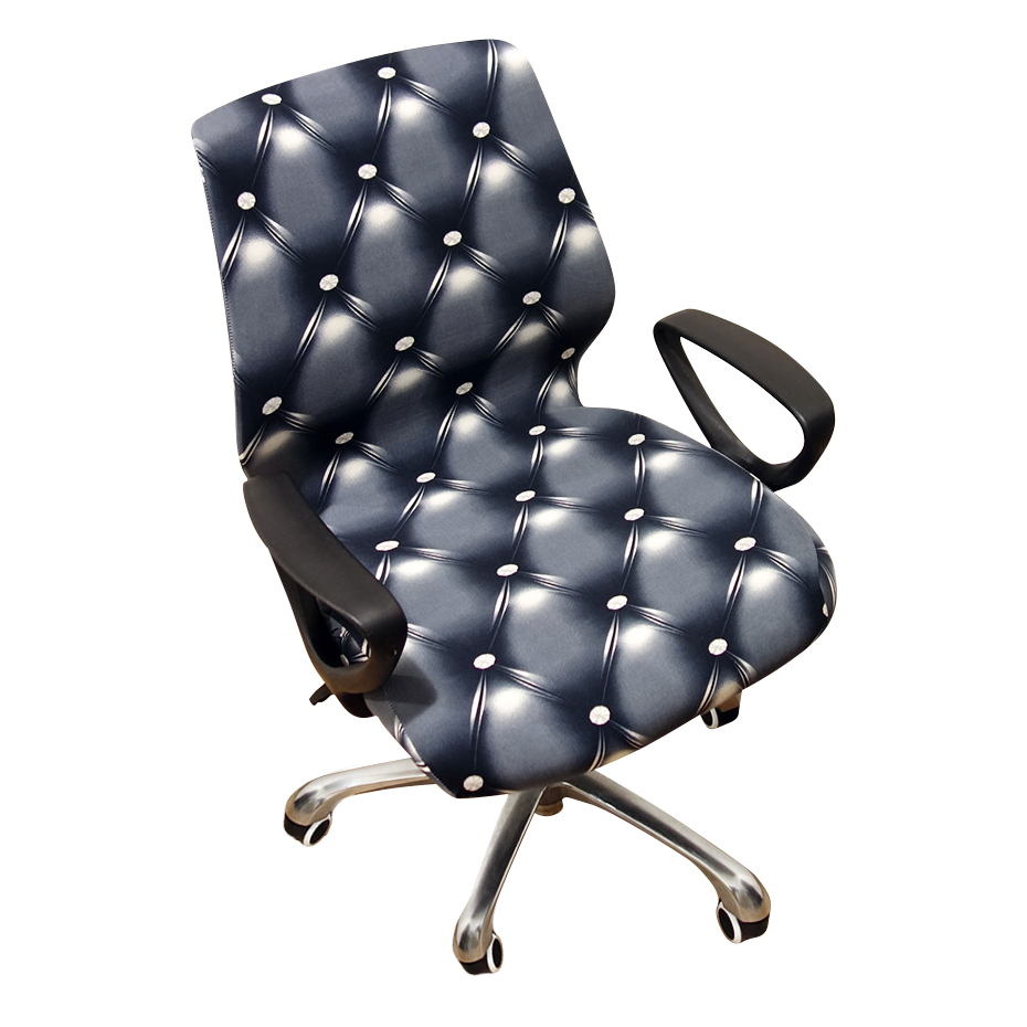 Universal Size Printed Leopard Computer Office Elastic Armchair Slipcover  Removable Seat Arm Chair Covers Stretch Rotating Lift