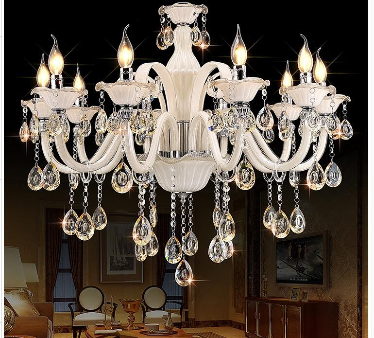 Champagne White Crystal Chandelier Modern Chandelier lustre de cristal Decoration Tiffany Pendants and Chandeliers Home Lighting newly modern crystal chandelier living room lustres decoration pendants ac chandeliers crystal home lighting indoor lighting