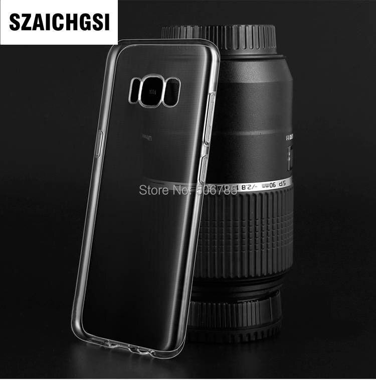 SZAICHGSI wholesale 500pcs/lot Transparent clear Soft TPU