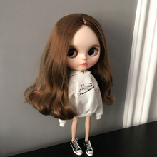 Causal Letter Printing lythe Doll Clothes Long Sleeve Hoodie Sweatshirt for ob24 Azone Licca Dolls 16 Jointed Accessories