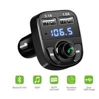 Car 12V FM Transmitter Handsfree Modulator Bluetooth Car Kit Car Charger MP3 Player Black Car Accessories