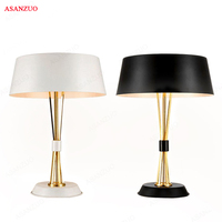 American post modern Nordic bedroom table lamp creative personality aluminum cover living room floor lamp LED fixture lighting