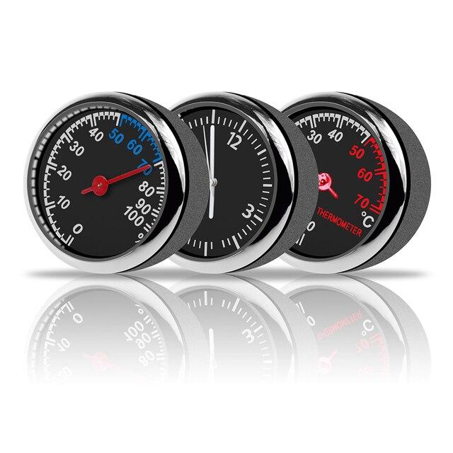 Voiture Thermomètre Hygromètre Horloge À Quartz Pour