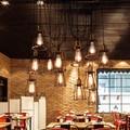 Retro Edison Lâmpada Pingente Luzes Sótão Do Vintage Antigo DIY Ajustável E27 Aranha Arte Pingente Lâmpada de Iluminação Para Casa AC 110 V-240 V