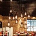 Retro Edison Loft Luces Pendientes de La Vendimia Antigua DIY Ajustable E27 Art Araña Lámpara de Techo Iluminación Para El Hogar de la CA 110 V-240 V