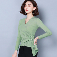 G495561New Arrival women clothing lace tops women Shirt N190909