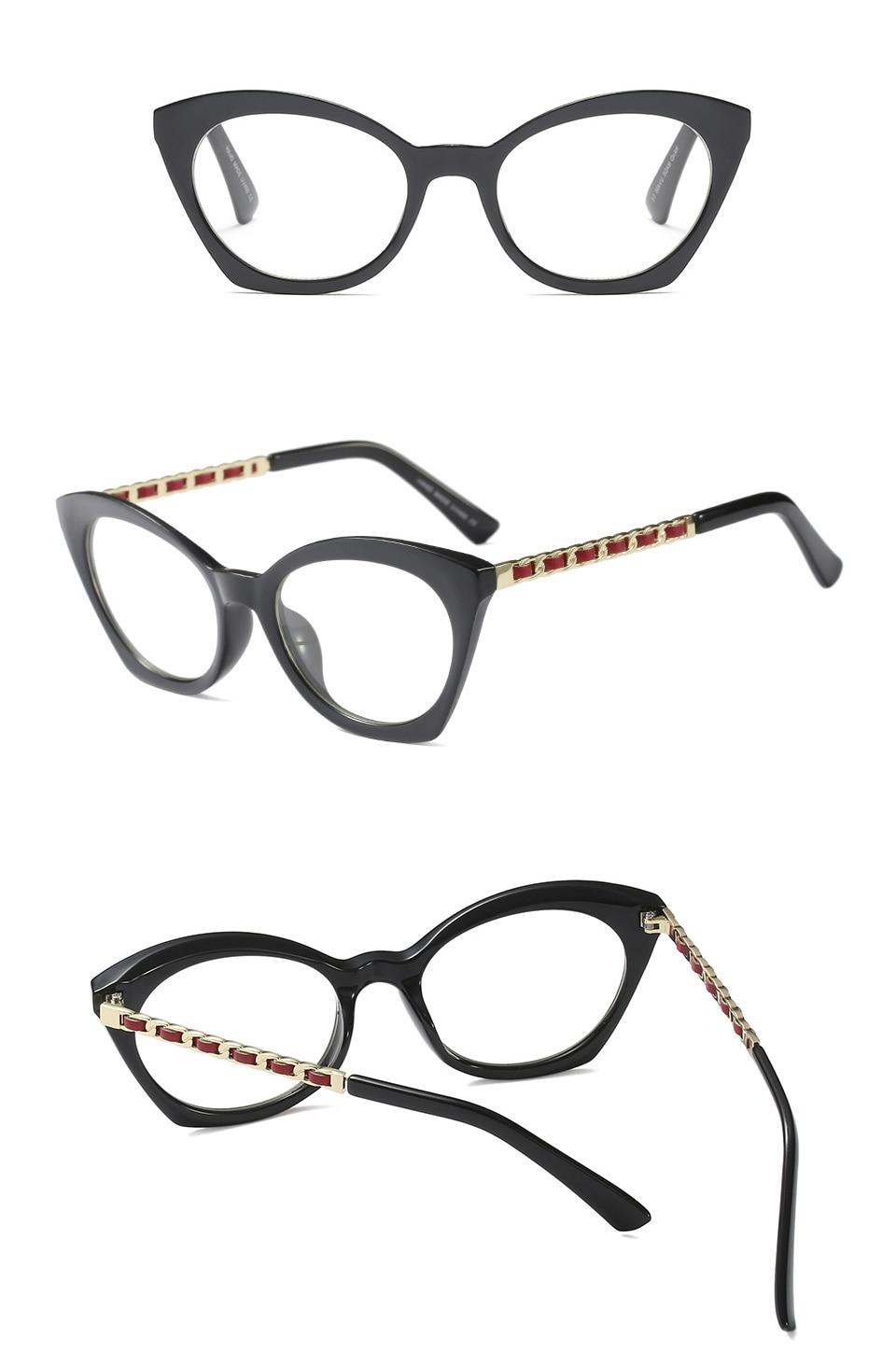 Cubojue vidrios de las mujeres Rosa Blanco gafas mujer anteojos ...