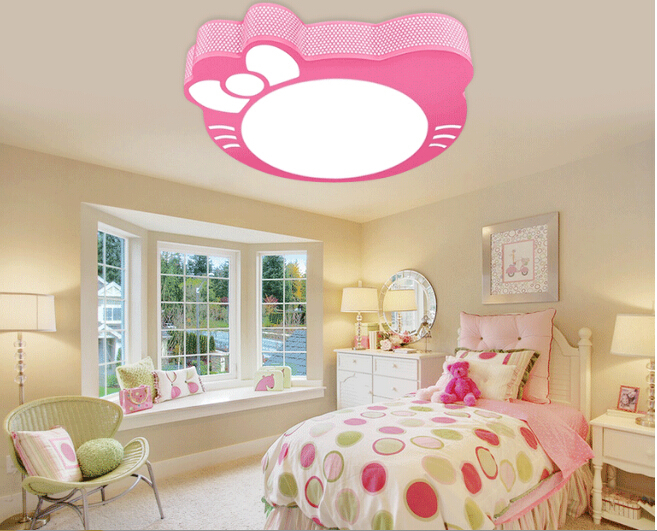 Los ni os de color rosa l mpara luces del techo ni os for Como decorar el techo de una recamara
