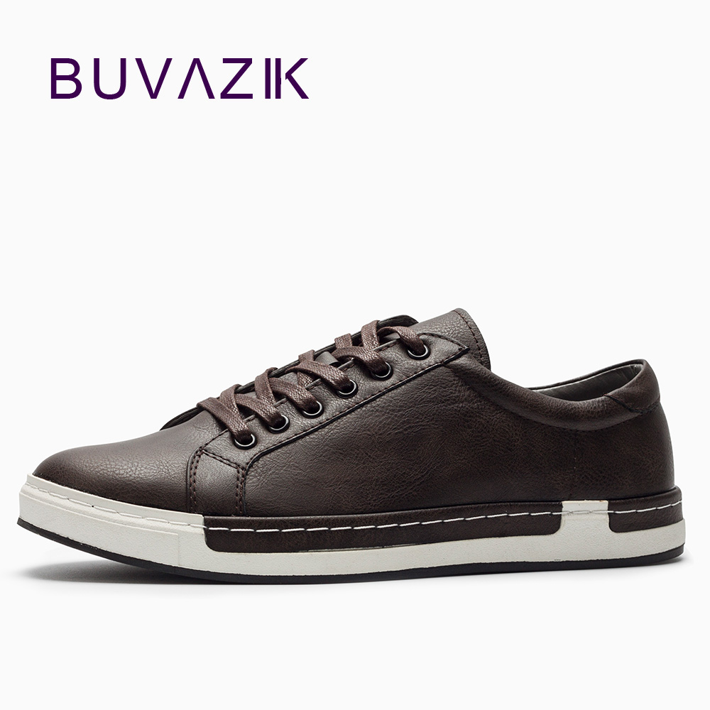BUVAZIK 2018 Men casual shoes,men sneakers high quality microfiber lace-up flats,hard-wearing rubber sole