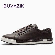 BUVAZIK 2018 Pria sepatu kasual, sepatu pria berkualitas tinggi microfiber lace-up flat, sol karet yang tahan aus