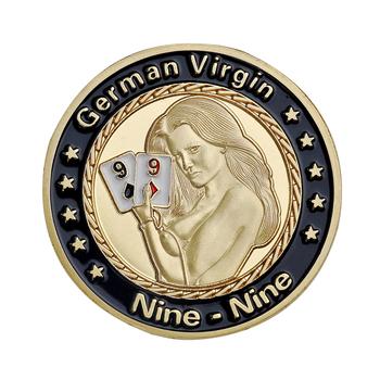 Poker Dealer Button Card Guard Press Casino akcesoria etui ochronne na karty metalowe żetony do pokera Dealer 40*3mm tanie i dobre opinie jialong Zinc GG363