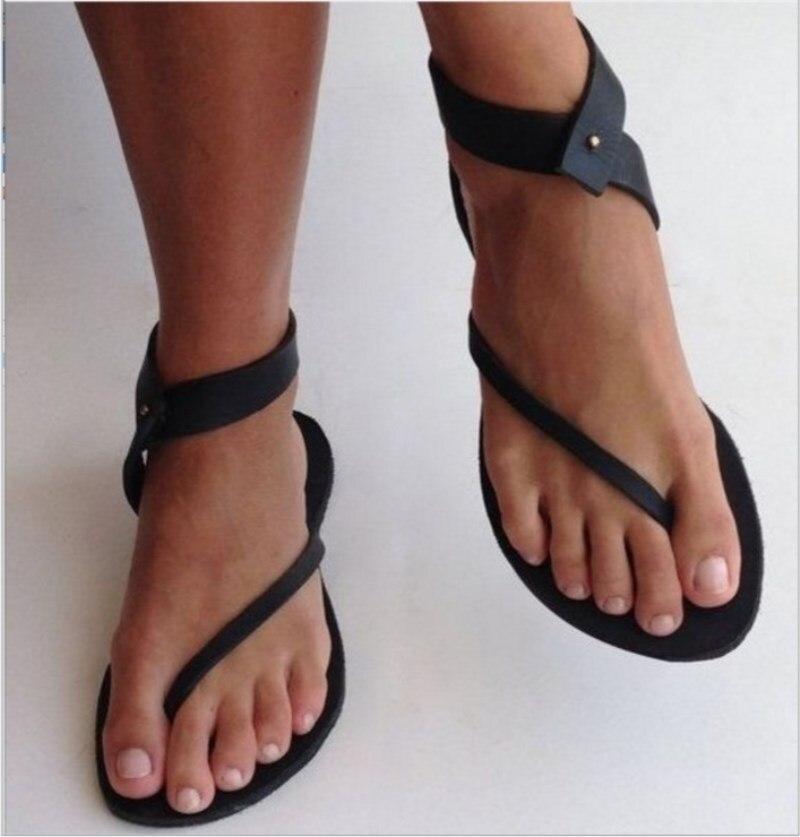 Frauen Gladator Flache Sommer Europäischen Design Sandalen Schuhe Damen Fischer Böhmen Sandalen Schuhe Große Größe 35-43 Ankle Strap Durchsichtig In Sicht Frauen Schuhe Frauen Sandalen